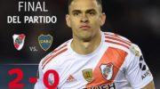 Copa Libertadores: contundente, River sacó 2 goles de diferencia y espera la vuelta