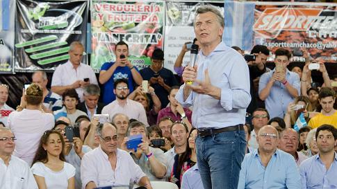"""Macri llega a Chaco, y ahora """"Sí se puede"""""""