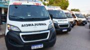 Peppo entregó cinco nuevas ambulancias para fortalecer el sistema sanitario provincial