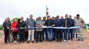 Peppo inauguró enripiado de caminos vecinales del paraje Cacica Dominga