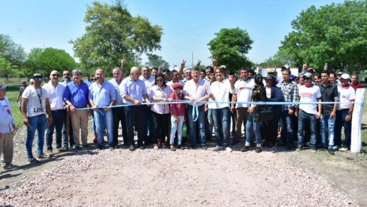 Peppo inauguró importantes obras en Samuhu y destacó el crecimiento de la localidad