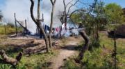 Una mujer y sus dos hijas fallecieron en un incendio intencional en el barrio Mate Cosido