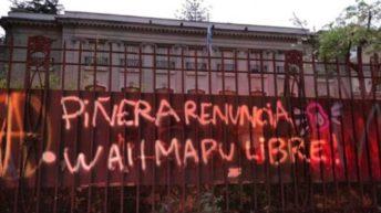 Chile en llamas: atacaron la embajada Argentina
