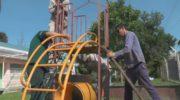 Reacondicionan los juegos del Jardín de Infantes N° 207 del barrio San Cayetano