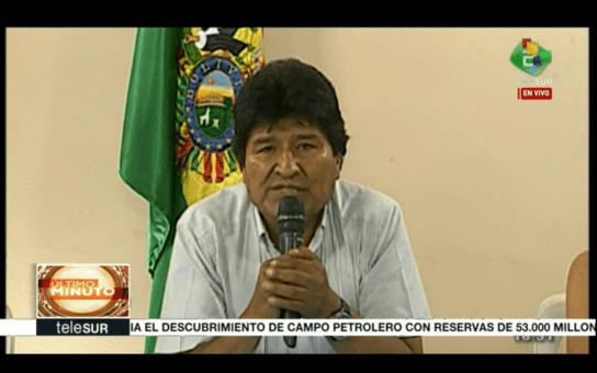 """Renunció Evo Morales: """"Estamos dejando a Bolivia con soberanía"""""""