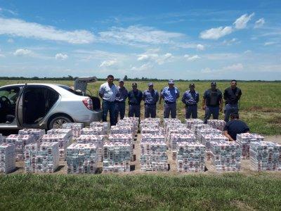 Agentes de Vedia y Bermejo incautaron el mayor cargamento de cigarrillos ilegales