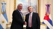 Alberto Fernández recibió a Miguel Díaz-Canel, presidente de Cuba