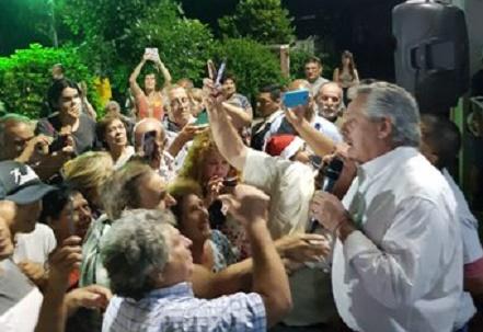 Alberto Fernández: «Voy a brindar para que los que están mal dejen de estarlo»
