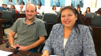 Fabricio Bolatti cedió a Alicia Frias la vicepresidencia del Concejo