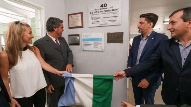 Se inauguró la remodelación de la EES N°42 en Colonia Benítez