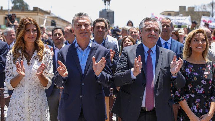 Macri y Fernández, juntos en la misa de Luján