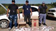 Puerto Bermejo: llevaban más de cien cajas de cigarrillos de contrabando
