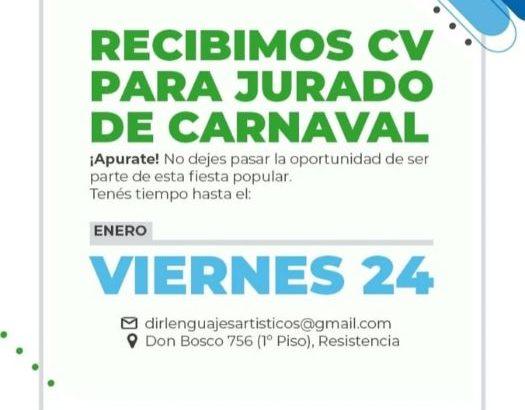 Convocan a formar parte de los jurados de los Carnavales 2020