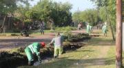 El municipio realizó un operativo integral de limpieza de desagües en los barrios Fortaleza y 10 de Mayo