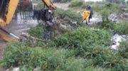 Intenso operativo municipal de saneamiento hídrico, limpieza y atención civil ante las lluvias