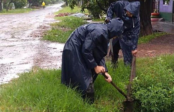 Intenso operativo municipal de saneamiento hídrico, limpieza y atención civil ante las lluvias 2