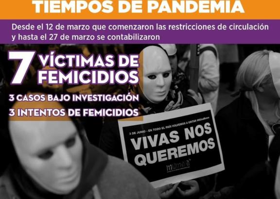 """Femicidios en tiempos de pandemia: """"Desde el 12 de marzo se contabilizaron 7 muertes perpetradas por femicidas"""""""