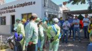 El intendente presentó a los trabajadores del área de limpieza el nuevo protocolo de trabajo ante la pandemia