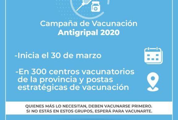 El lunes arranca en toda la provincia la campaña de vacunación antigripal 2020 1