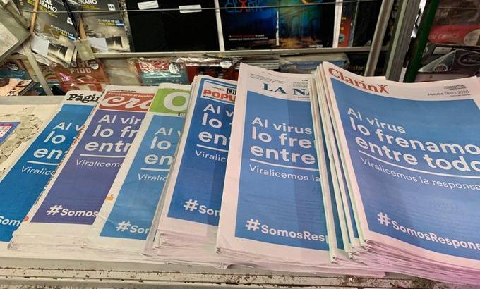"""Las tapas de los principales diarios coincidieron en el mensaje: """"Al virus lo frenamos entre todos"""""""