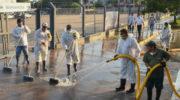 El Municipio implementó desinfección terrestre y pulverización espacial en barrios del macrocentro oeste y la zona este