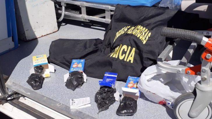 Trasladaban cocaína en una ambulancia