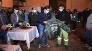 Martínez entregó indumentaria y elementos de seguridad a los trabajadores de Eco Operativa