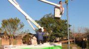 Tras un segundo robo, el Municipio repuso el alumbrado en la plazoleta del barrio Los Teros,