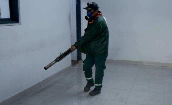 Continúa el proceso de desinfección en todas las dependencias policiales