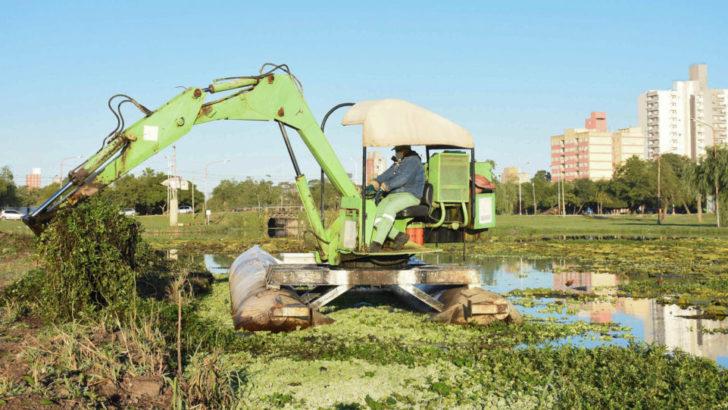 El Municipio de Resistencia sigue con los trabajos de recuperación de la Laguna Argüello