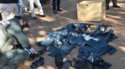 Los atraparon con armamento de guerra y uniformes de una fuerza de seguridad