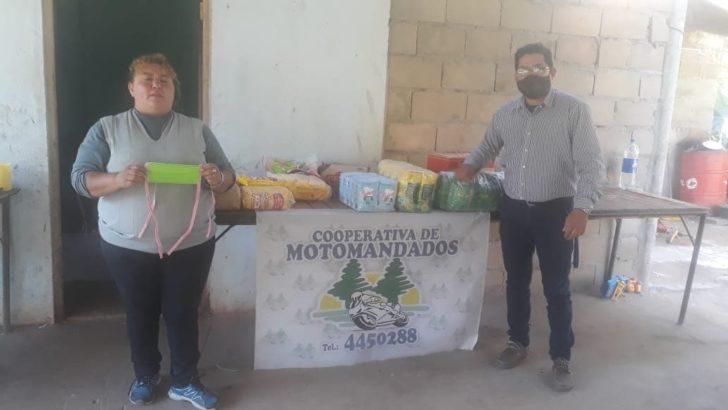 Motomandados solidarios: ahora, asistieron a un merendero de Puerto Vilelas