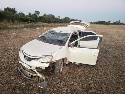 Pampa del Infierno: un joven murió tras volcar el auto en el que circulaba