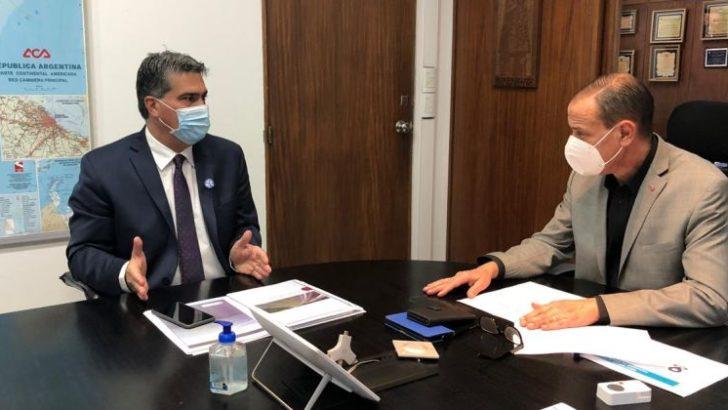 Capitanich retomó negociaciones para reactivar obras viales