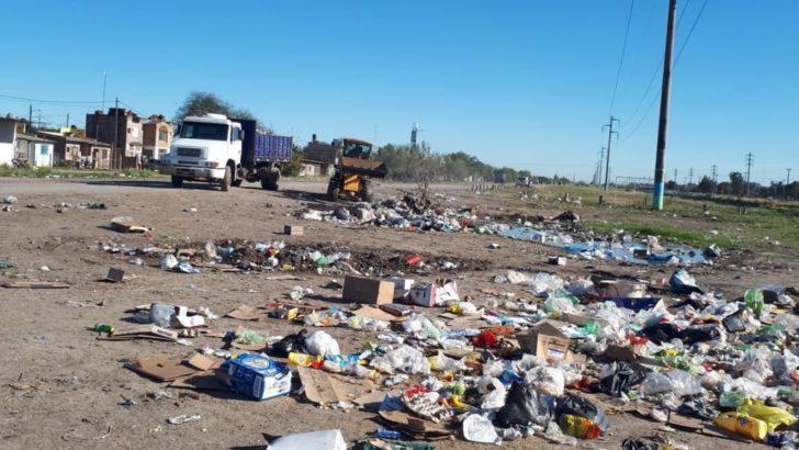 Continúan los operativos de eliminación de basurales en la zona sur y piden colaboración de los vecinos