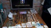 Drogas Peligrosas secuestro cocaína, marihuana y dinero en efectivo