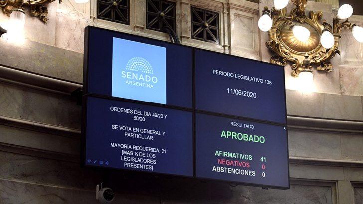 El Senado aprobó la ley de alquileres y convalidó la ley de educación a distancia