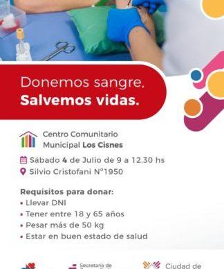 """Este sábado sigue la campaña municipal de donación de sangre en el CCM """"Los Cisnes"""" 1"""