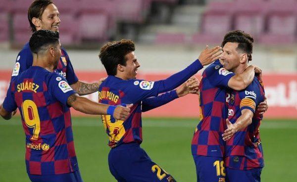 Messi marcó su gol 700 en el empate con el Atlético Madrid 1
