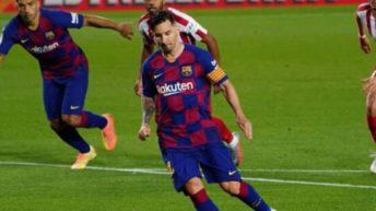Messi marcó su gol 700 en el empate con el Atlético Madrid