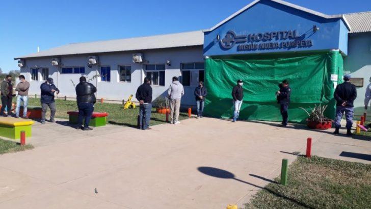 Se realizaron más de 100 hisopados en misión Nueva Pompeya