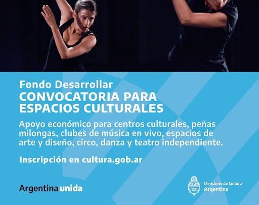 Un nuevo Fondo Desarrollar para asistir a espacios culturales