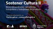 Becas Sostener Cultura II para artistas y trabajadores de la cultura