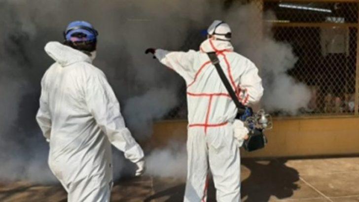 Continúan con la fumigación, limpieza y desmalezado para colaborar en la prevención del dengue y Covid 19