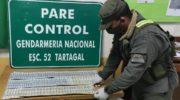Gendarmería decomisó 2.180.000 de pesos y 9.000 dólares