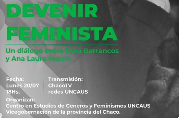 Inician las charlas abiertas de la Diplomatura en Estudios Feministas de la Uncaus