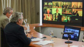 Mercosur: Fernández llamó a la unidad para enfrentar la pospandemia