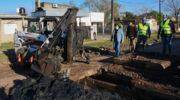 Supervisaron trabajos de refuncionalización de la red interna de desagües de villa Don Andrés