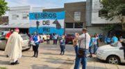Barrios de Pie marchó por San Cayetano y Monseñor Dus recibió a la organización