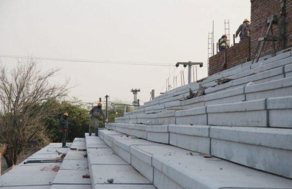 Constataron el avance de las obras de remodelación del Club Atlético Regional 1